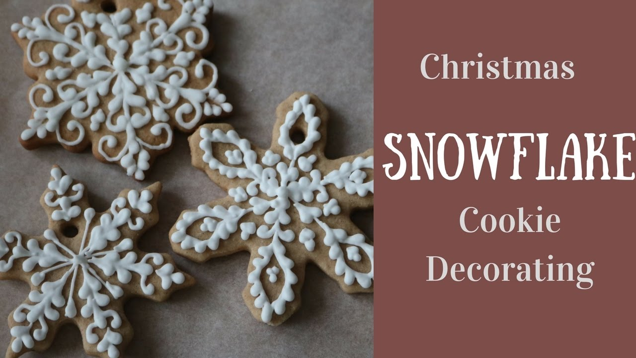Christmas Snowflake Cookie Decorating