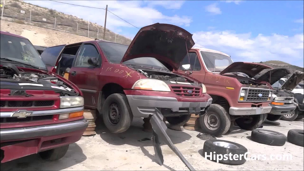 Junkyard Salvage Yard Junk Cars Old Car Scrapyard Video Scrap #2 ...