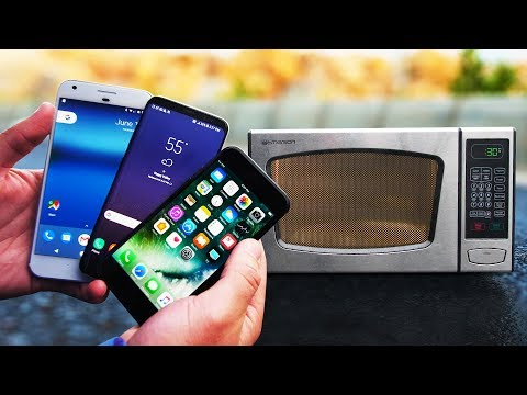 Thumbnail: Microwave Survival Test! Galaxy S8 vs iPhone 7 vs Pixel XL!