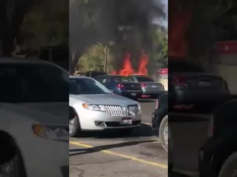 Car Explotion at Ridley's in Jerome ID