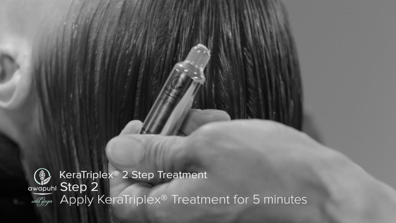 In-Salon with Awapuhi Wild Ginger® KeraTriplex™ Treatment