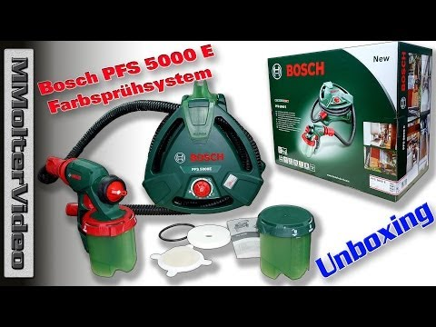 tutorial farbspr hsystem pfs 5000 e von bosch doovi. Black Bedroom Furniture Sets. Home Design Ideas