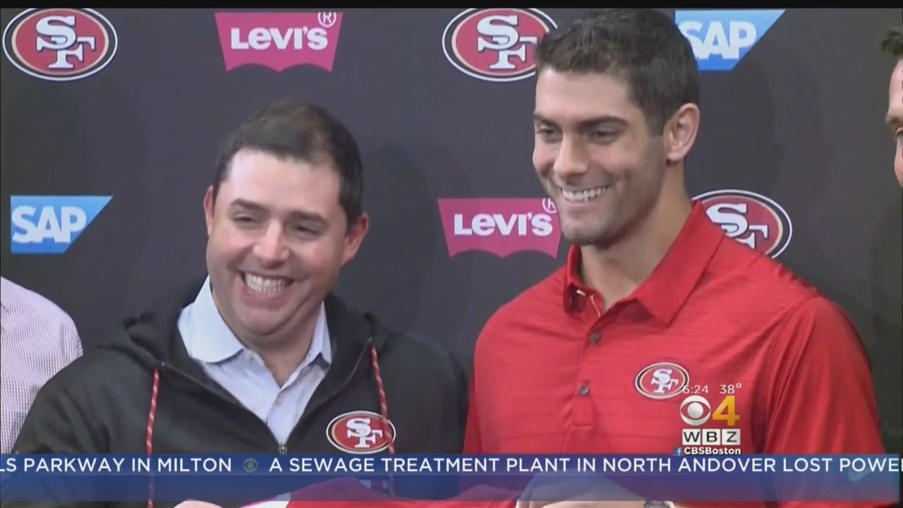 6a35ce653 Jimmy Garoppolo  Excited  To Be In San Francisco. CBS Boston