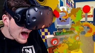 ICH KOTZE DEN KOMPLETTEN LADEN VOLL ✪ JOB SIMULATOR Virtual Reality