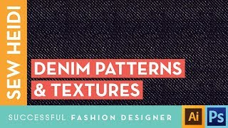 Textile Design Tutorial in Illustrator: Denim Textures