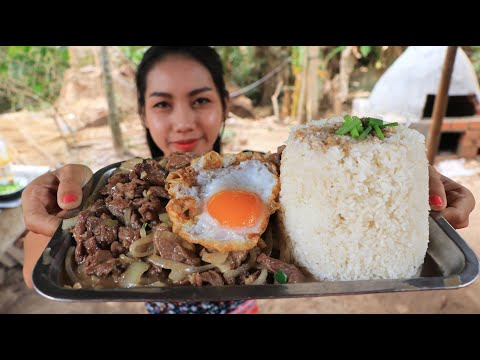 Yummy Cooking Rice With Beef Stir-fry Recipe - Natural Life TV Cooking