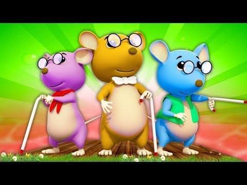 Три слепых мышки   русский мультфильмы для детей   Three Blind Mice   Farmees Russia