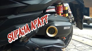 Modif Box filter udara vario 150 + LED