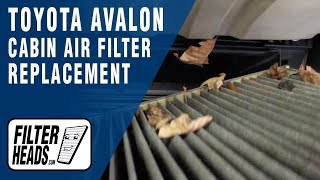 Cabin Air Filter Replacement - 2010 Toyota Avalon