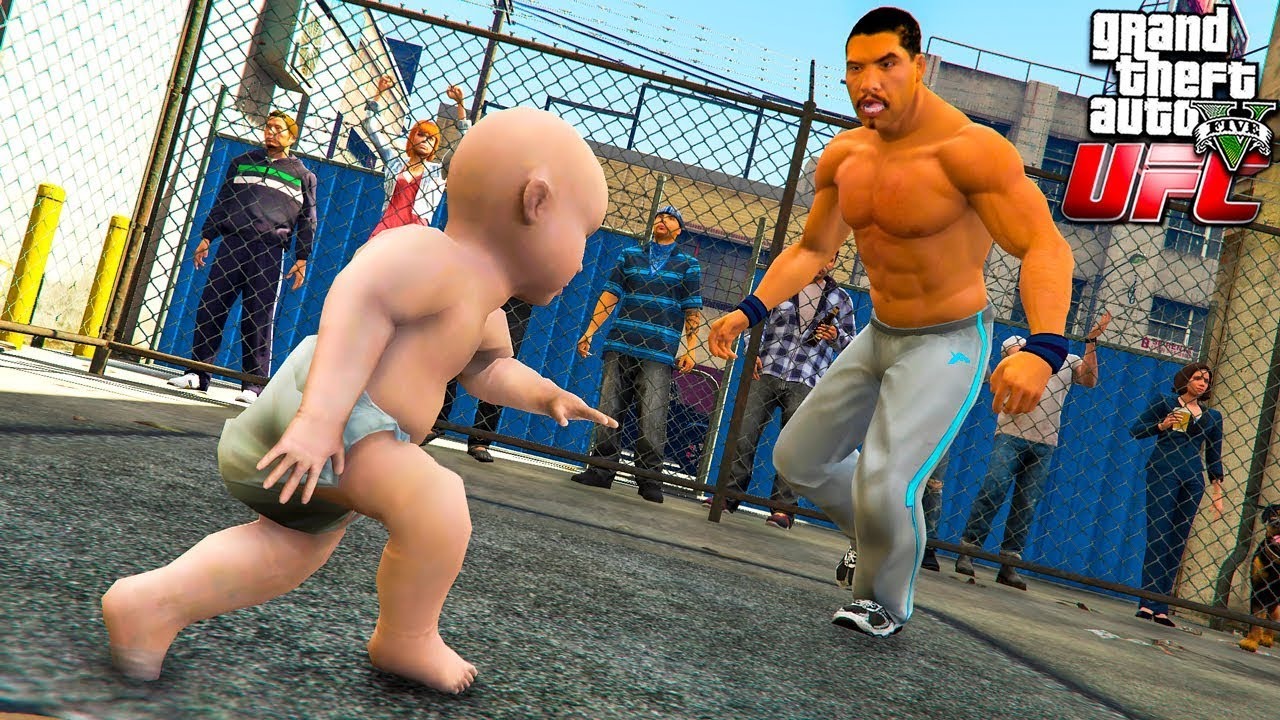 РЕБЕНОК УСТРОИЛСЯ НА БОИ БЕЗ ПРАВИЛ UFC В ГТА 5 МОДЫ! BABY ОБЗОР МОДА В GTA 5! ИГРЫ ГТА ВИДЕО MODS