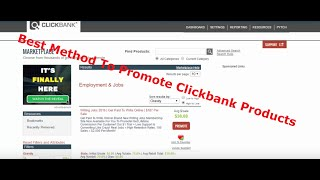 Best Method To Promote Clickbank Products