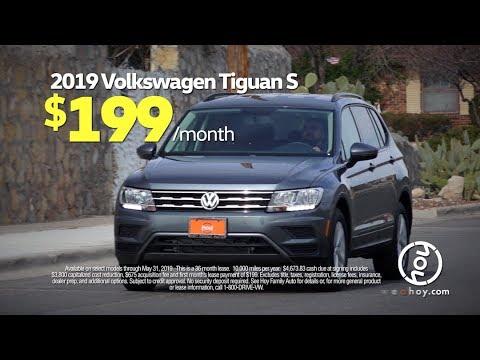 2019 Volkswagen Tiguan $199/mo May Lease Special at Hoy Volkswagen El Paso