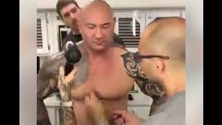 The making of Dave Bautista's Drax makeup - 'Guardians of the Galaxy 2'