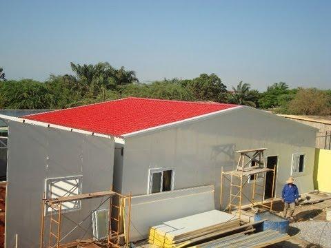 Steel Prefab Homes Kits Sandwich Panels For Self Building