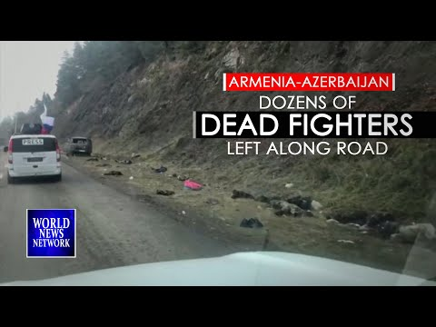 Footage from Karabakh shows dozens of dead fighters left along road