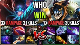 World Most EPIC Battle Ever!!! Monster Crit 3x Rampage 31Kills PA Vs Cancer 30Kills Slark DotA 2