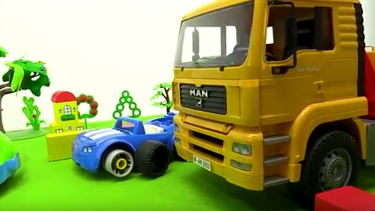 big trucks for kids tow trucks cars for kids leo truck toy cars youtube