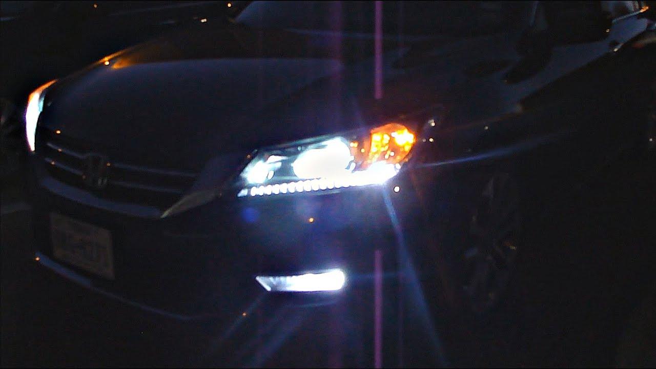 Honda Accord Bright White Lights 2013 2014 2015 Youtube