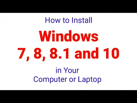 How To Install Windows 7, 8, 8.1 & 10 In Your Laptop And Computer | Simple Trick