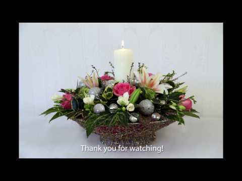 Christmas Flower Arranging with Chrissie Harten 1