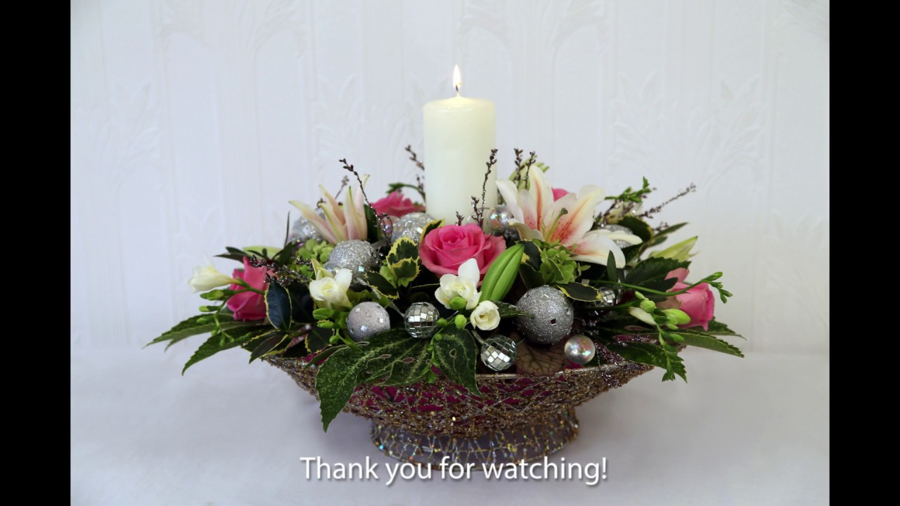 Christmas Flower Arrangements.Christmas Flower Arranging With Chrissie Harten 1 Youtube