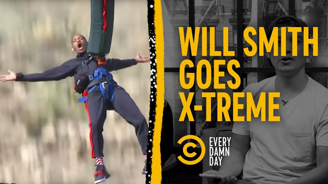 Will Smith Heli-Bungees to Birthday Glory