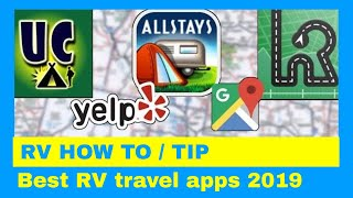 Favorite RV and Travel APPS From Six RV YouTube Channels