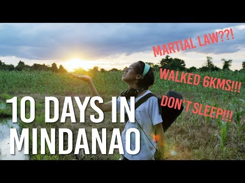 ONE WEEK IN MINDANAO