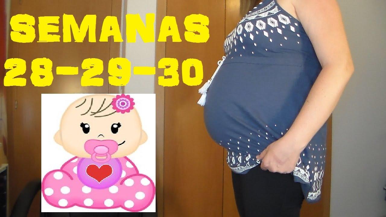 0a50a6559 EMBARAZO Y BARRIGA - SEMANAS 28-29-30 - YouTube