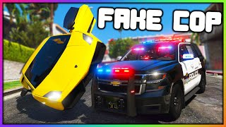 GTA 5 Roleplay - FAKE COP TAKES MONEY FROM ROBBERS | RedlineRP