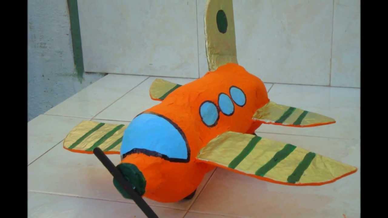 Como hacer un avioncito reciclando youtube - Como hacer un cono ...