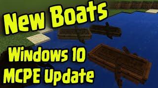 Minecraft Windows 10 / MCPE 0.12.0 - NEW BOATS Update Gameplay Walkthrough!