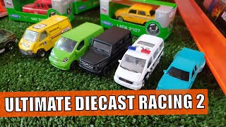 Diecast Cars!! Racing DAY 2! Hot Wheels, Majorette, Welly, Matchbox racing