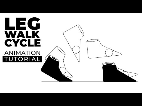 After Effects Tutorial - Easy Cartoon Character Leg Walk Cycle Animation
