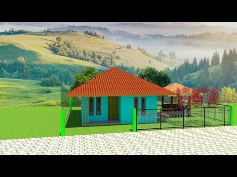 rumah 6 x 6 minimalis sederhana gaya pedesaan - youtube