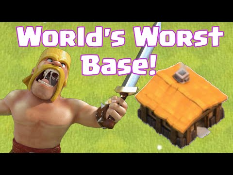Clash Of Clans World's Worst Base Layout Design