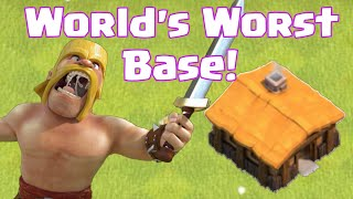 Clash Of Clans World's Worst Base Layout Design