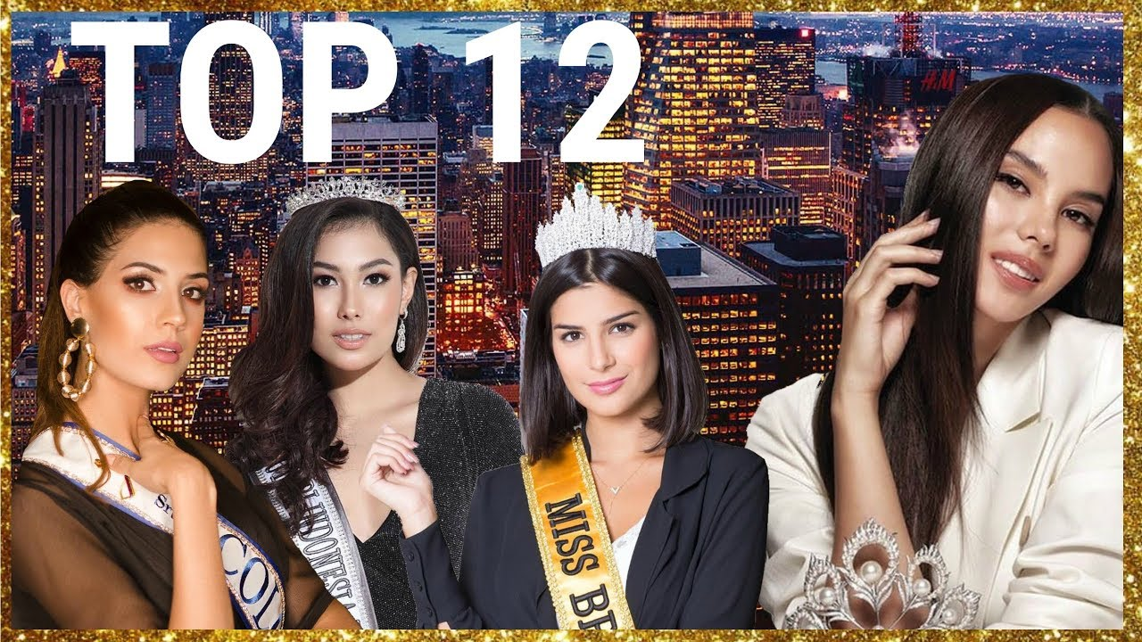 Miss Universe 2019 Top 12 Predictions Youtube
