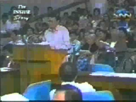 Sen. Wigberto Tañada, acknowledges the influence of his father