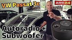VW Passat 3c (Typ b6) Autoradio und Aktivwoofer einbauen | DNX5170BTS und Gladen RS10BRACTIVE