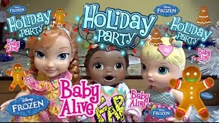 BABY ALIVE has a COOKIE PARTY! The Lilly and Mommy show. Holiday party with ANNA and BAILEY!