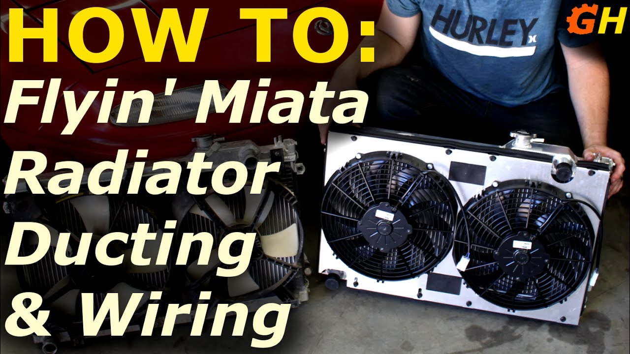 Flyin Miata Radiator Fan Ducting Wiring Kit Reborn Turbo Build 28