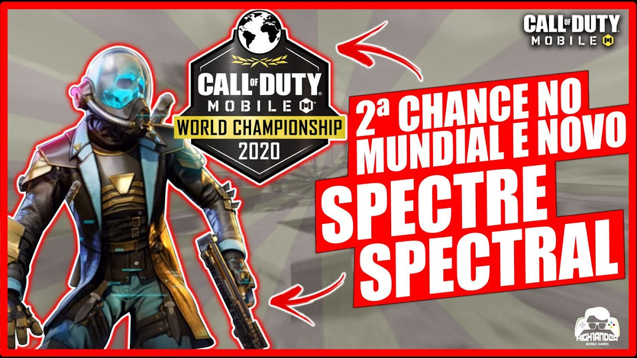NOVO PERSONAGEM SPECTRE SPECTRAL E CAMPEONATO MUNDIAL COM SEGUNDA CHANCE no Call of Duty: Mobile