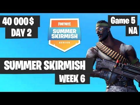 Fortnite Summer Skirmish Week 6 Day 2 Game 5 NA Highlights