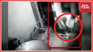 Mother Brutally Beating And Kicking Her Little Son Caught On CCTV