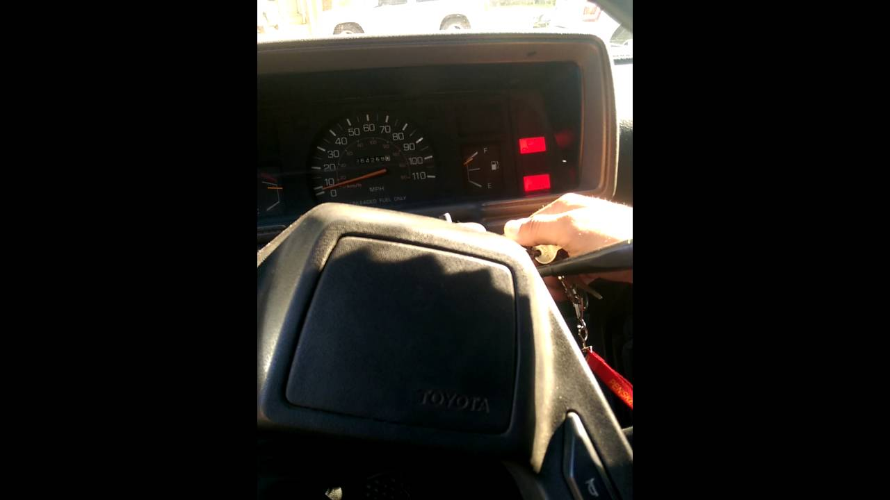 87 Toyota Pickup Starter Going Out Youtube Truck Fuel Filter
