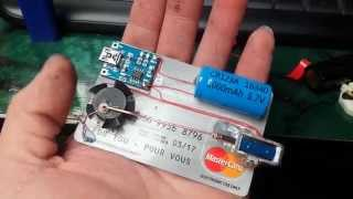 Tiny Solenoid Motor on a Credit Card