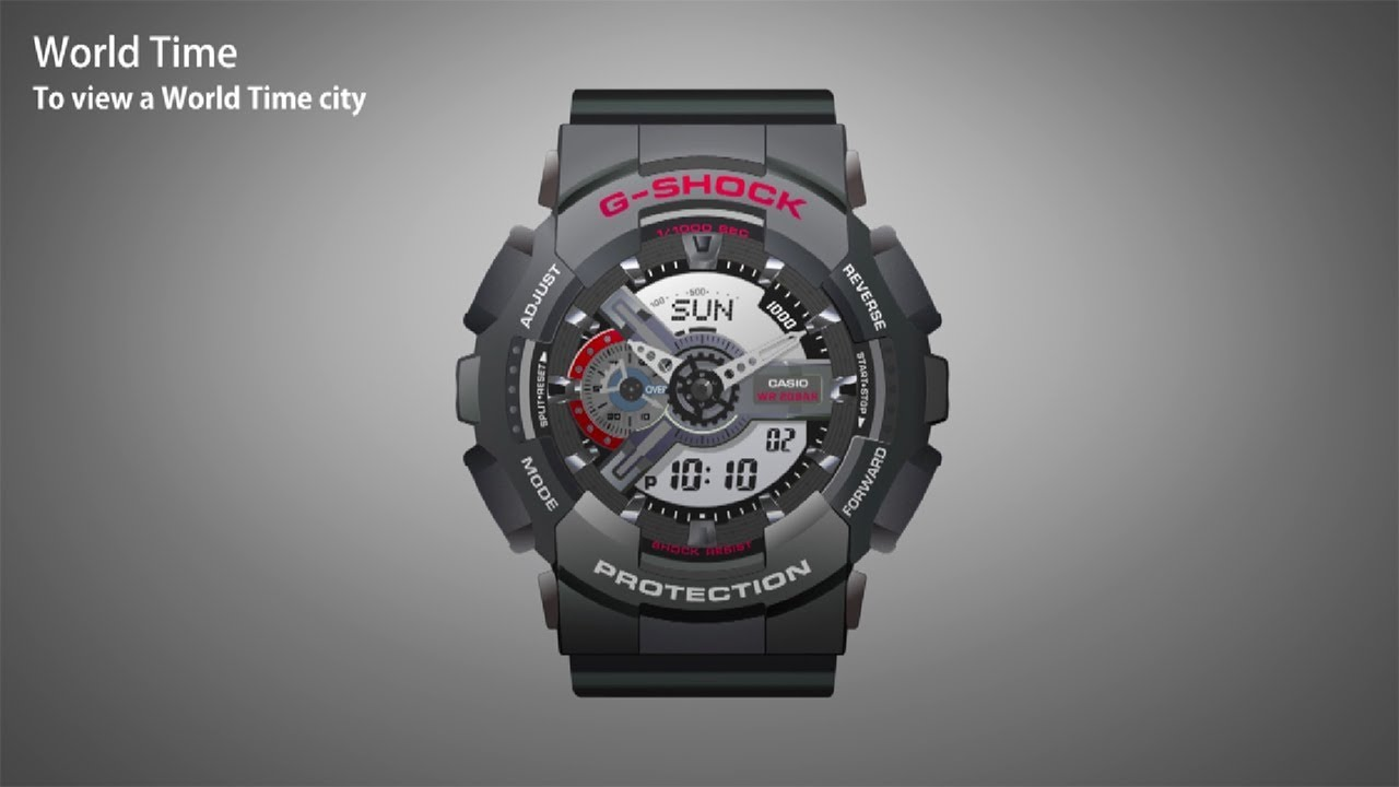 Casio Ga 110 Series Operation Video World Time Youtube