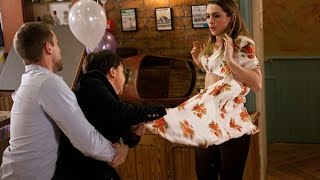 Hollyoaks - Nancy Hits & Rips Sienna's Fake Baby Bump Of