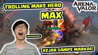 Trolling Sampe Markas Musuh pake MAX! Hero yang Bakal Rilis! - Arena of Valor